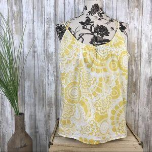 Anthropologie Lilka Yellow Flower Print Tank